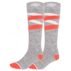 4F Skisokker, Dame, 2 Par, Cold Light Grey