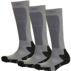 4F Skisokker, 3 Par, Barn, Dark Grey