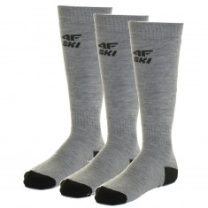 4F Skisokker, 3 Par, Herre, Cold Light Grey