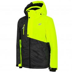 4F Lauge, Skijakke, Junior, Yellow Neon