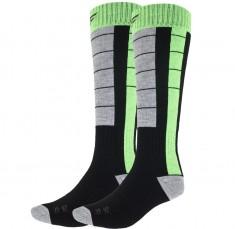 4F Skisokker, 2 par, Herre, Black/Green