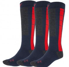 4F Skisokker, 3 par, Herre, Blue/Red