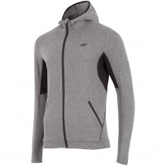 4F Warm Fleece Hoodie, Herre, Grey