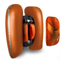ABS Vario Base Unit, inkl. karbonpatron og zip-on ryggsekk, Red/Orange