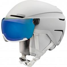Atomic Savor Visor Stereo, Skihjelm med Visir, White Heath