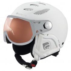 Cairn Cosmos Photochromic, Skihjelm med Visir, Mat Toal White