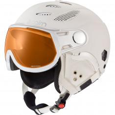 Cairn Cosmos Photochromic, Skihjelm med Visir, Mat Total White