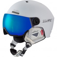 Cairn Eclipse Rescue, Skihjelm med visir, Mat White Blue