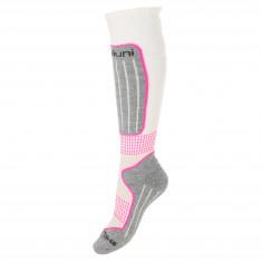 Deluni ski socks, 1pair, white/lilac