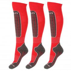 Deluni Skisokker, 3 Par, Red