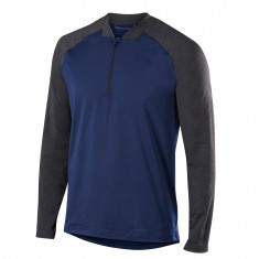 Falke 1/2 Zip Long Sleeved Shirt, Herre, Dark Night