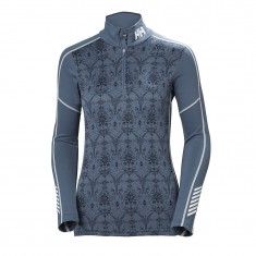 Helly Hansen Lifa Active Graphic 1/2 Zip, Superundertøy, Dame, Vintage Indigo