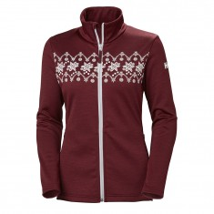 Helly Hansen W Graphic Fleecejakke, Dame, Cabarnet