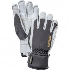 Hestra Army Leather Gore-tex Skihansker, Black/White