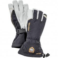 Hestra Army Leather Goretex Skihansker, Black