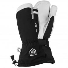 Hestra Army Leather Heli 3-finger Skihansker, Black