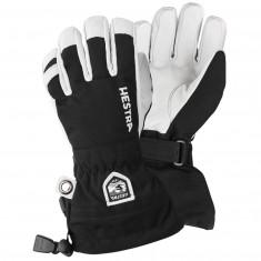Hestra Army Leather Heli Skihansker, Junior, Black