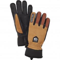 Hestra Army Leather Wool Terry Skihansker, Cork/Brown