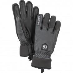 Hestra Army Leather Wool Terry Skihansker, Grey/black