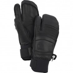 Hestra Leather Fall Line 3-finger Skihansker, Black
