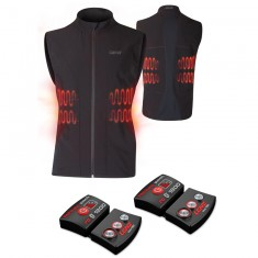 Lenz Heat Vest 1.0 + Lithium Pack rcB 1800, men, black