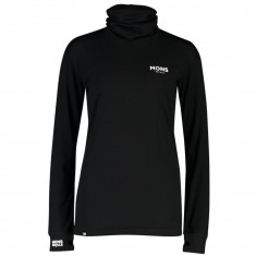 Mons Royale Yotei BF High Neck, Dame, Black