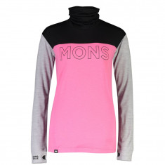 Mons Royale Yotei BF High Neck, Dame, Pink