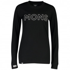 Mons Royale Yotei BF Tech LS, Dame, Black