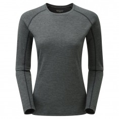 Montane Primino 220 Long Sleeve T-Shirt, Dame, Black