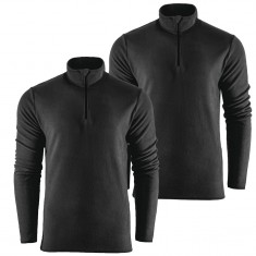 Outhorn Midela 1/4 Zip Fleecegenser, Barn/Junior, Black, 2 stk.