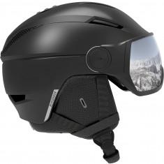 Salomon Pioneer Visor, Skihjelm med visir, Black/Silver