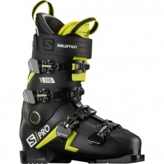 Salomon S/PRO 110, Skistøvler, Herre, Black/Acid Green/White