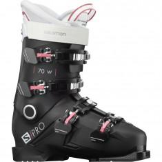 Salomon S/PRO 70, Skistøvler, Dame, Black/Garnet Pink/White