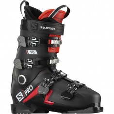 Salomon S/PRO 90, Skistøvler, Herre, Black/Red/Belluga