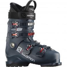 Salomon X Access 90 Wide, Skistøvler, Herre, Petrol Blue/Red