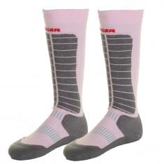 Seger Evolution, ski sokker, 2-par, rose/grå