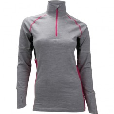 Ulvang Training Turtle Neck  w/Zip, Dame, Grey