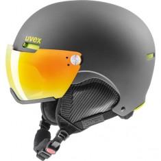 Uvex hlmt 500 Skihjelm med Visir, Black/Lime