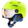 Uvex Junior pro Skihjelm med Visir, White-Red Mat