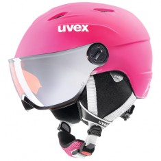 Uvex Junior pro Skihjelm med Visir, Pink Mat
